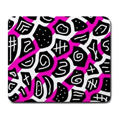 Magenta playful design Large Mousepads