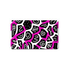 Magenta playful design Magnet (Name Card)