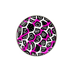 Magenta playful design Hat Clip Ball Marker (10 pack)