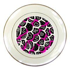 Magenta playful design Porcelain Plates