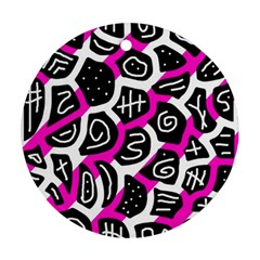 Magenta playful design Round Ornament (Two Sides)