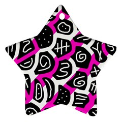 Magenta playful design Star Ornament (Two Sides)
