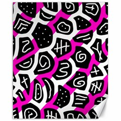 Magenta playful design Canvas 16  x 20