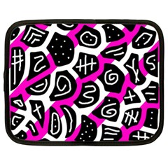 Magenta playful design Netbook Case (XL)