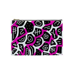 Magenta playful design Cosmetic Bag (Medium)
