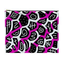 Magenta playful design Cosmetic Bag (XL)