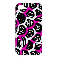 Magenta playful design Apple iPhone 4/4S Hardshell Case