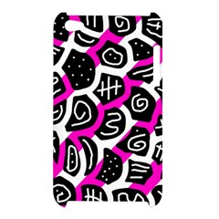 Magenta playful design Apple iPod Touch 4