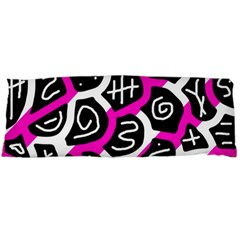 Magenta playful design Body Pillow Case Dakimakura (Two Sides)