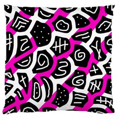 Magenta playful design Large Cushion Case (Two Sides)