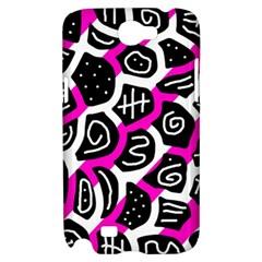 Magenta playful design Samsung Galaxy Note 2 Hardshell Case