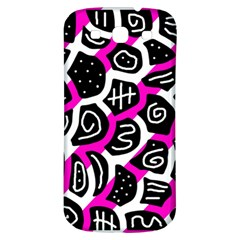 Magenta playful design Samsung Galaxy S3 S III Classic Hardshell Back Case