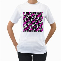Magenta playful design Women s T-Shirt (White)