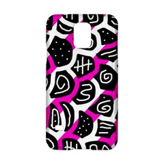 Magenta playful design Samsung Galaxy S5 Hardshell Case