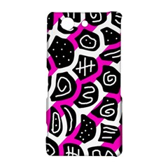 Magenta playful design Sony Xperia Z3 Compact