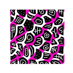 Magenta playful design Small Satin Scarf (Square)