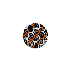 Orange playful design 1  Mini Magnets