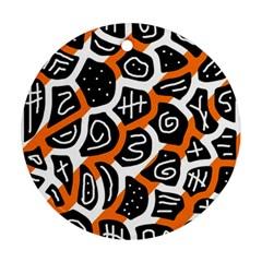 Orange playful design Ornament (Round)