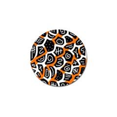 Orange playful design Golf Ball Marker (4 pack)