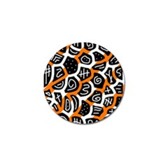 Orange playful design Golf Ball Marker (10 pack)
