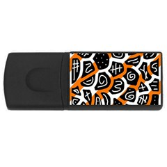 Orange playful design USB Flash Drive Rectangular (1 GB)