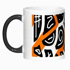 Orange playful design Morph Mugs
