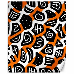 Orange playful design Canvas 11  x 14