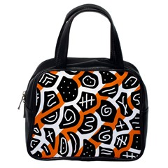 Orange playful design Classic Handbags (One Side)