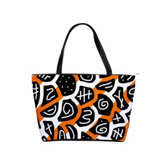 Orange playful design Shoulder Handbags