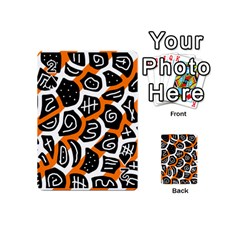 Orange playful design Playing Cards 54 (Mini)