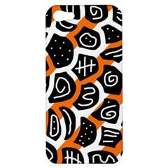 Orange playful design Apple iPhone 5 Hardshell Case