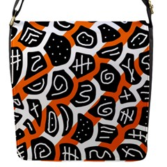 Orange playful design Flap Messenger Bag (S)