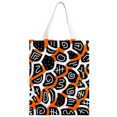 Orange playful design Classic Light Tote Bag