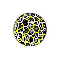 Yellow playful design Hat Clip Ball Marker (10 pack)