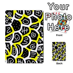 Yellow playful design Playing Cards 54 Designs