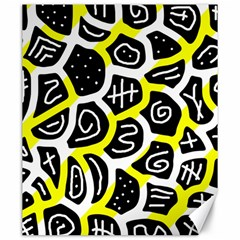 Yellow playful design Canvas 20  x 24