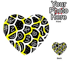 Yellow playful design Playing Cards 54 (Heart)