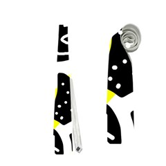 Yellow playful design Neckties (One Side)