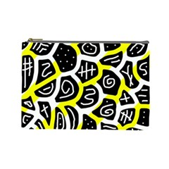 Yellow playful design Cosmetic Bag (Large)