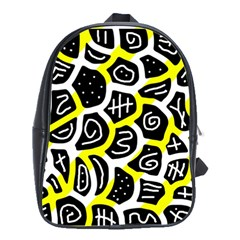 Yellow playful design School Bags(Large)