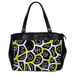 Yellow playful design Office Handbags