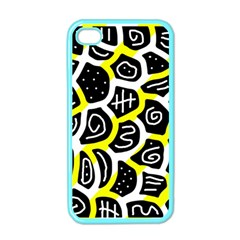 Yellow playful design Apple iPhone 4 Case (Color)