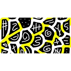 Yellow playful design YOU ARE INVITED 3D Greeting Card (8x4)