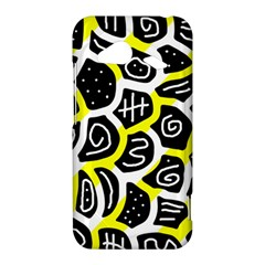Yellow playful design HTC Droid Incredible 4G LTE Hardshell Case