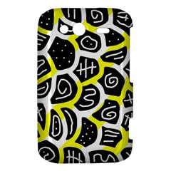 Yellow playful design HTC Wildfire S A510e Hardshell Case