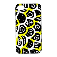Yellow playful design Apple iPhone 4/4S Hardshell Case with Stand