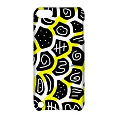 Yellow playful design Apple iPod Touch 5 Hardshell Case with Stand