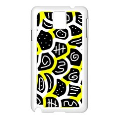Yellow playful design Samsung Galaxy Note 3 N9005 Case (White)