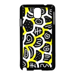 Yellow playful design Samsung Galaxy Note 3 Neo Hardshell Case (Black)