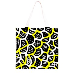 Yellow playful design Grocery Light Tote Bag